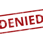 a denied stamp, workers compensation